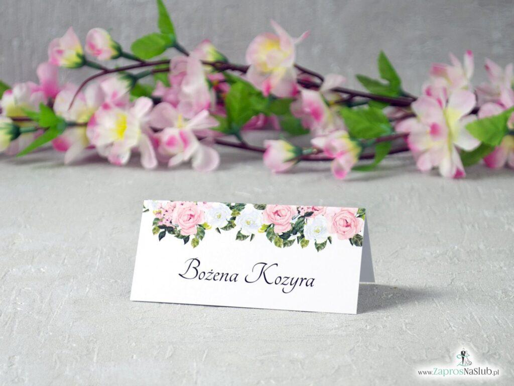 Winietki z różowymi i białymi kwiatami WIN-41-12