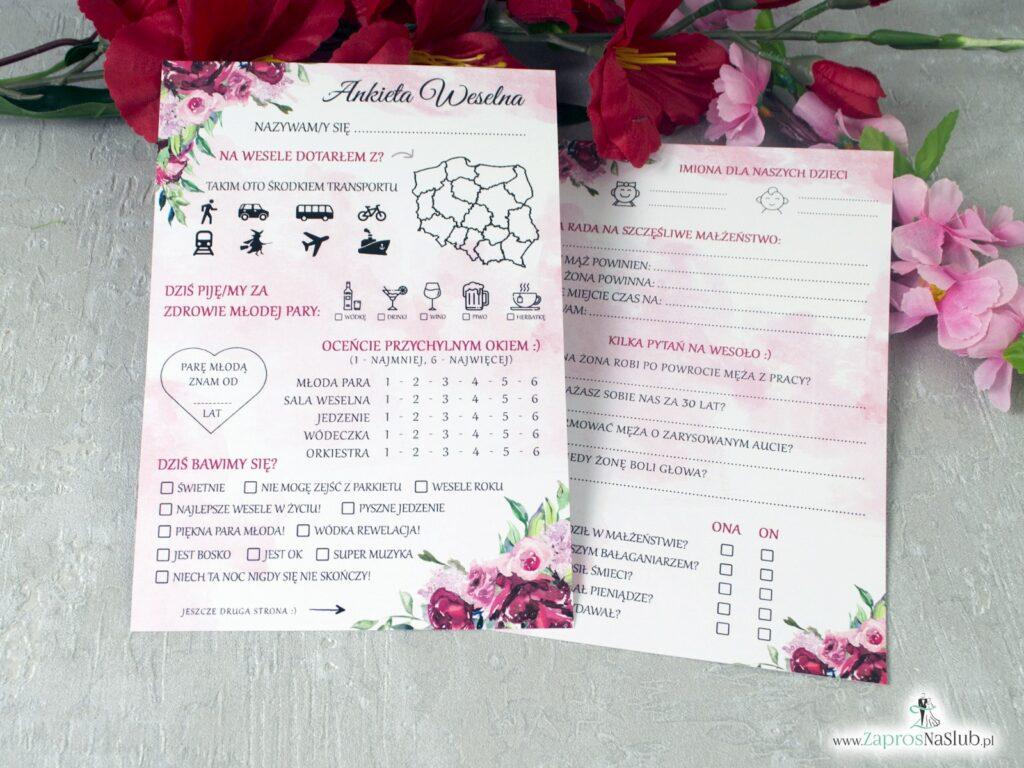 Ankieta ślubna dla gości, księga gości z piwoniami ANK-41-08-min