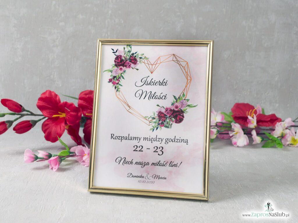 Iskierki miłości z kwiatami piwonii i geometrycznym sercem informacja w ramce IMIR-41-08-min
