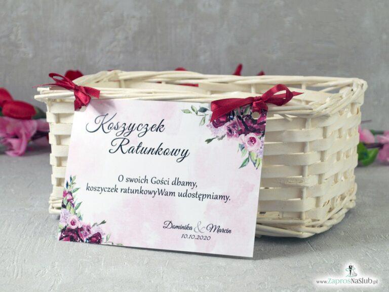 Koszyczek ratunkowy z kwiatami piwonii KOS-41-08 - ZaprosNaSlub