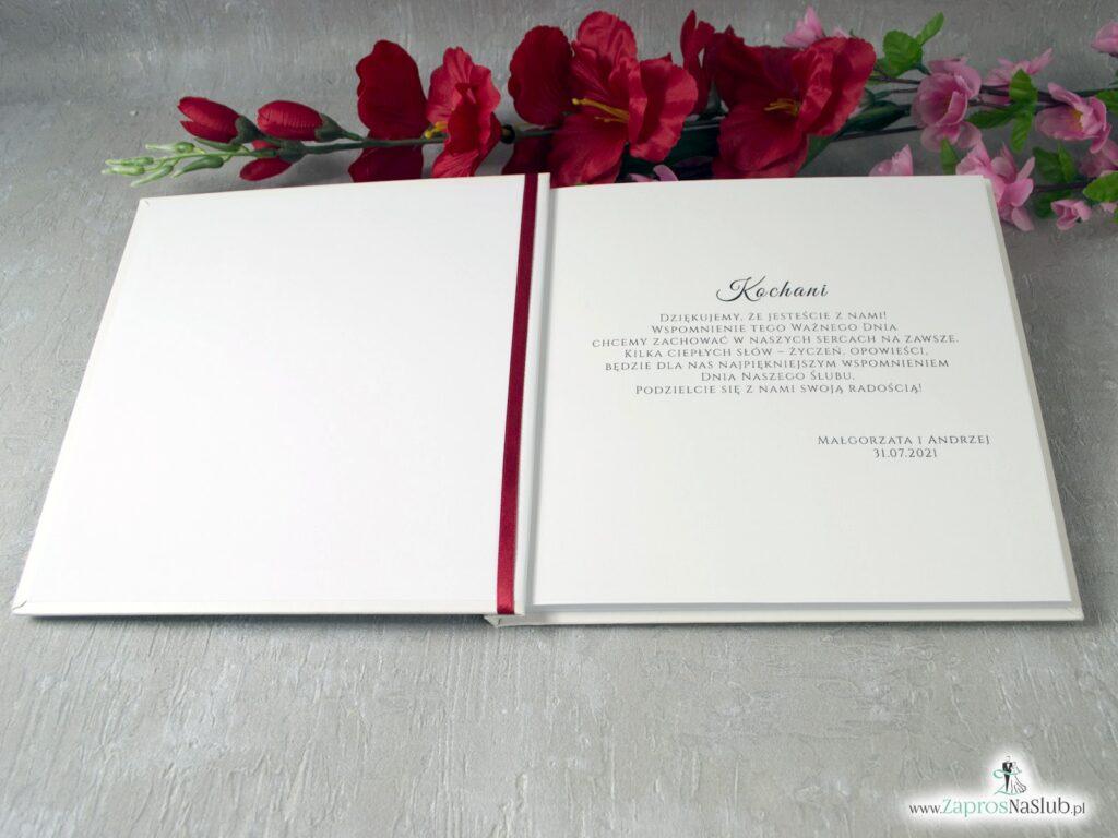 Księga gości weselnych z piwoniami KSG-41-08