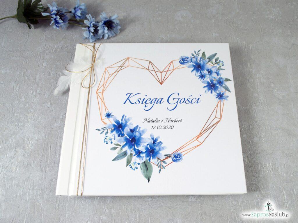 Księga gości z chabrami, niebieskie kwiaty KSG-41-22