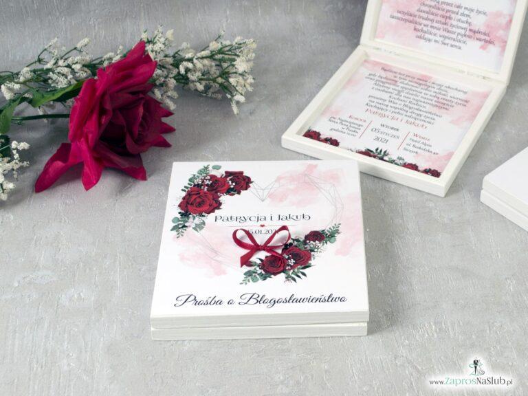 Prośba o błogosławieństwo dla rodziców z czerwonymi różami POB-41-09