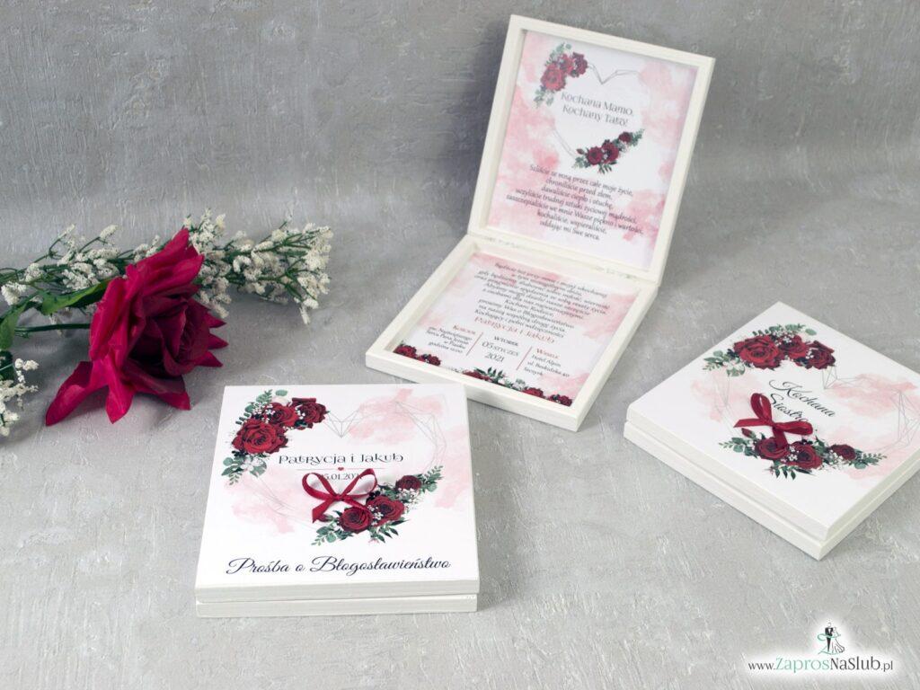 Prośba o błogosławieństwo rodziców z kwiatami róży POB-41-09