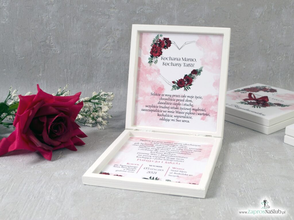 Prośba o błogosławieństwo ślub czerwone róże POB-41-09