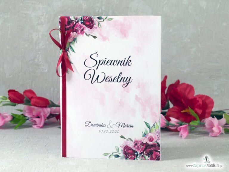 Śpiewnik weselny z kwiatami piwonii SPW-41-08 - ZaprosNaSlub