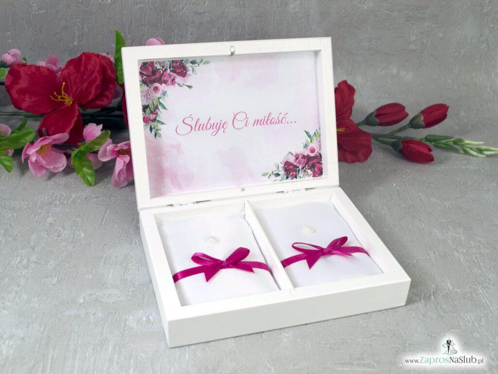 Szkatułka na obrączki z kwiatami piwonii PNO-41-08