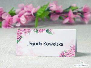Winietki na stół - różowe hortensje WIN-41-25