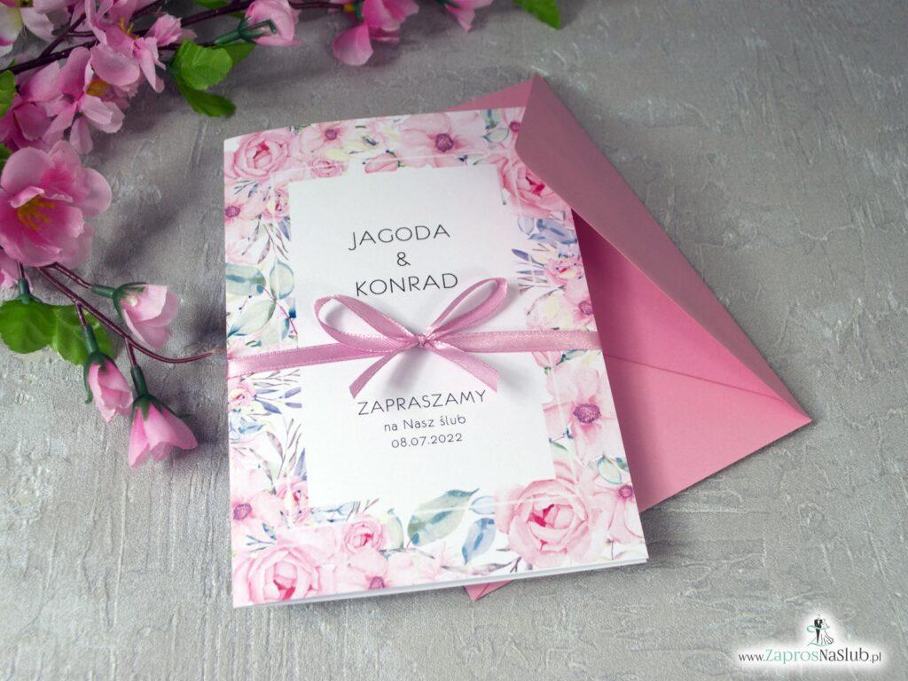 Zaproszenia z różami na ślub ZAP-117