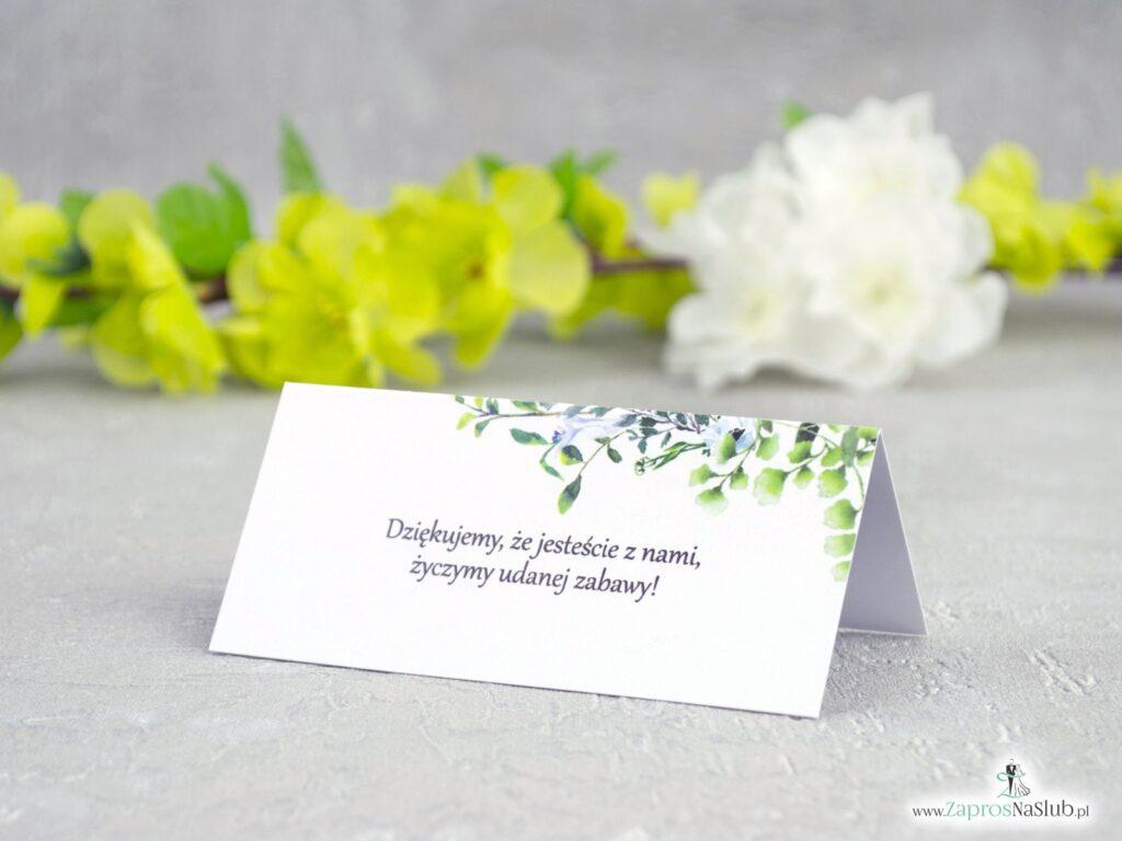 Winietki na stół boho zielone listki WIN-41-26