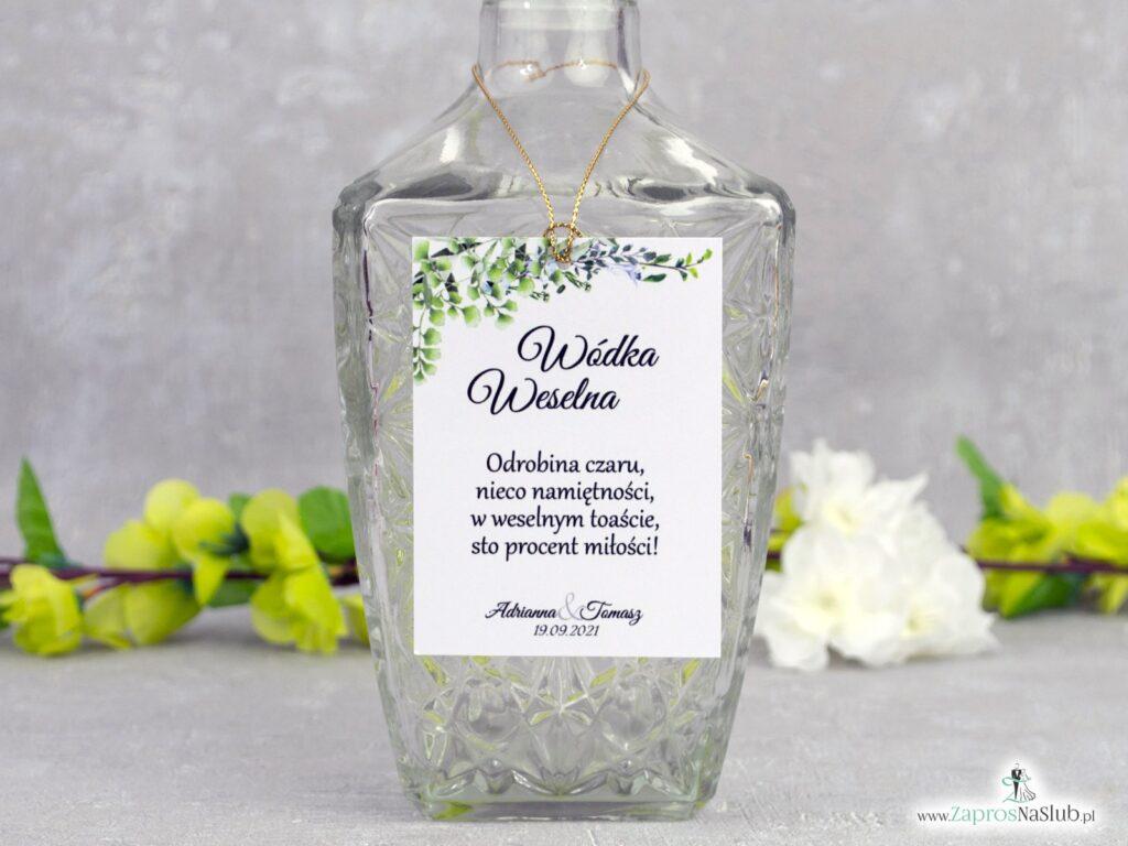 Zawieszka na alkohol boho zielone listki ZAW-41-26