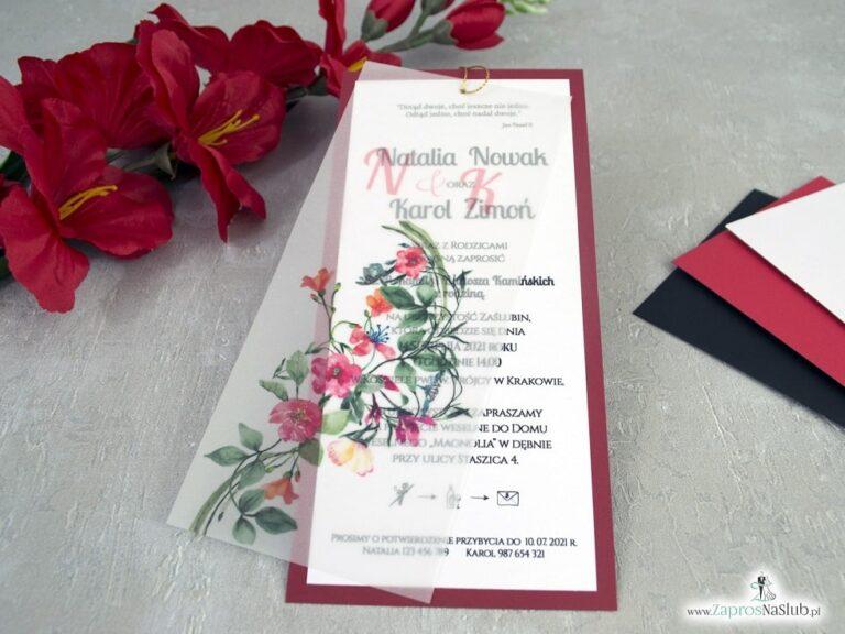 Zaproszenia ślubne z kalką - Zaproszenia ślubne ZaprosNaSlub
